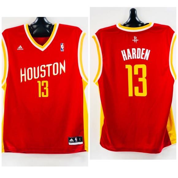 reputable site 28484 0e0a0 Adidas NBA Jersey Houston Rockets James Harden L